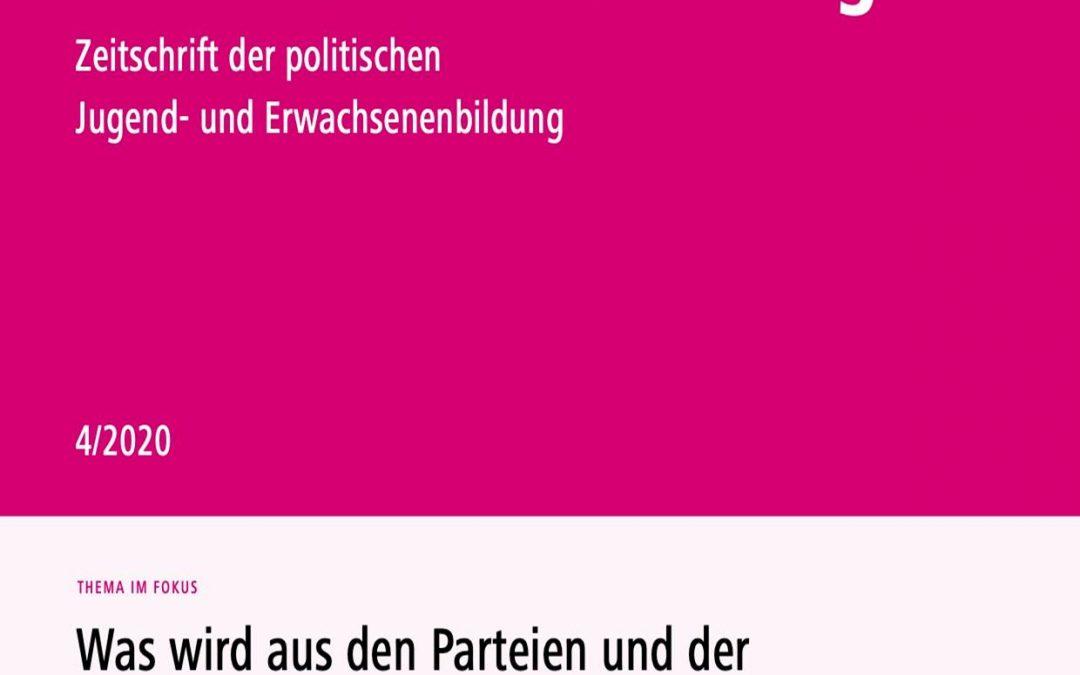 """Neue Beiträge zur Parteiendemokratie in der Fachzeitschrift """"Außerschulische Bildung"""""""