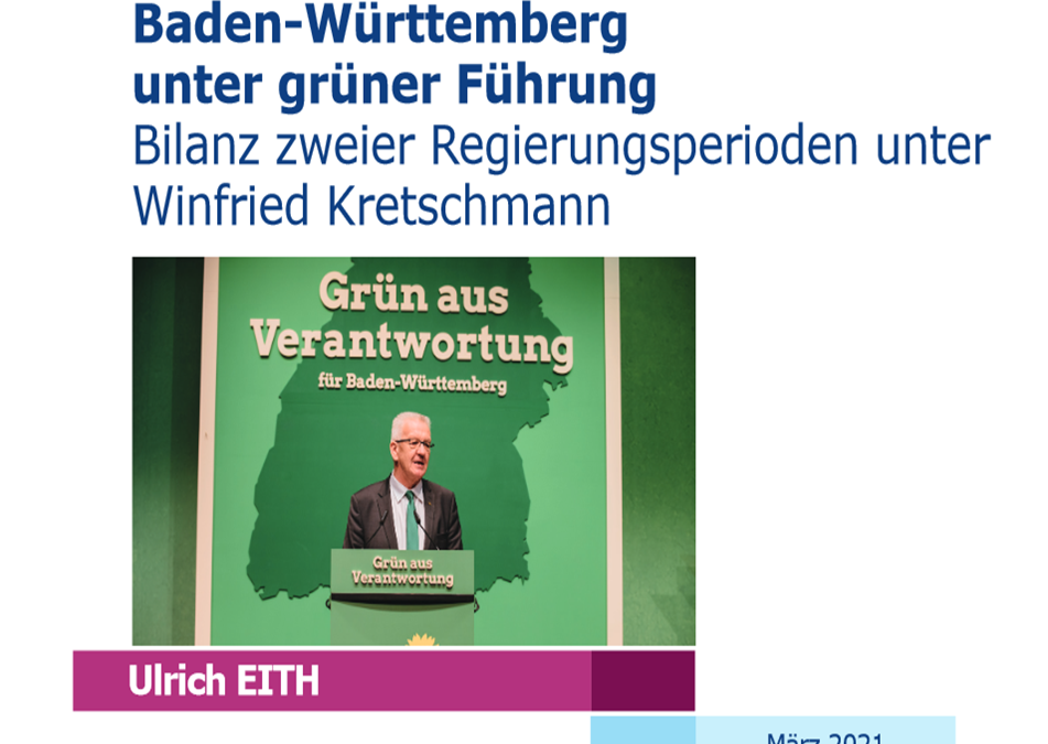 Prof. Dr. Ulrich Eith zieht Bilanz nach zwei Regierungsperioden unter Winfried Kretschmann